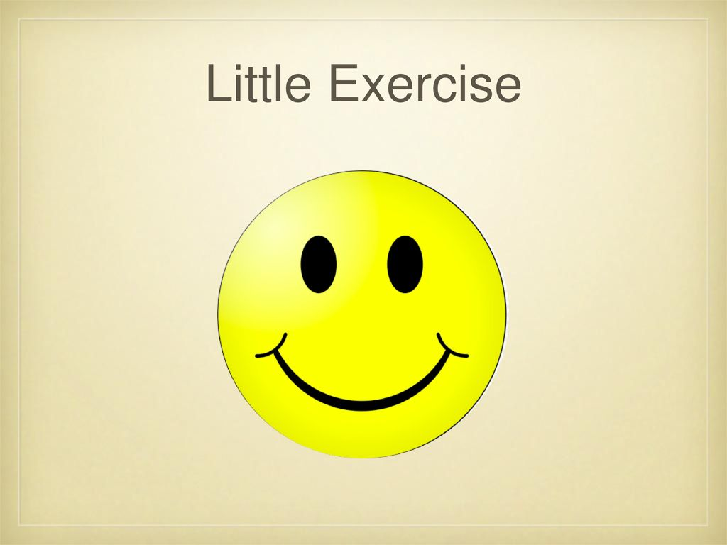 Little Exercise