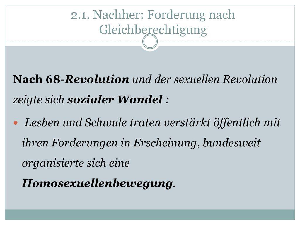 2.1. Nachher: Forderung nach Gleichberechtigung