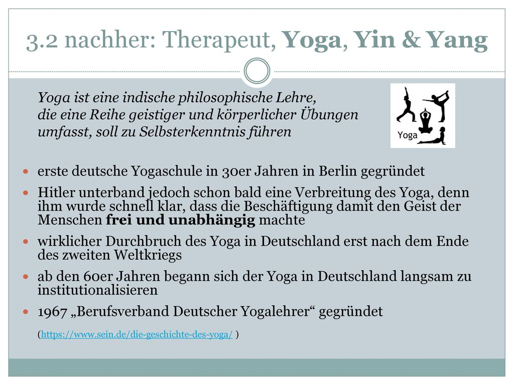 3.2 nachher: Therapeut, Yoga, Yin & Yang