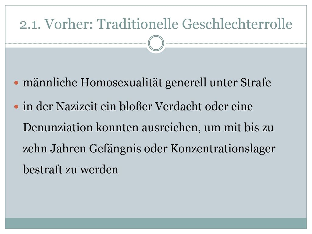 2.1. Vorher: Traditionelle Geschlechterrolle