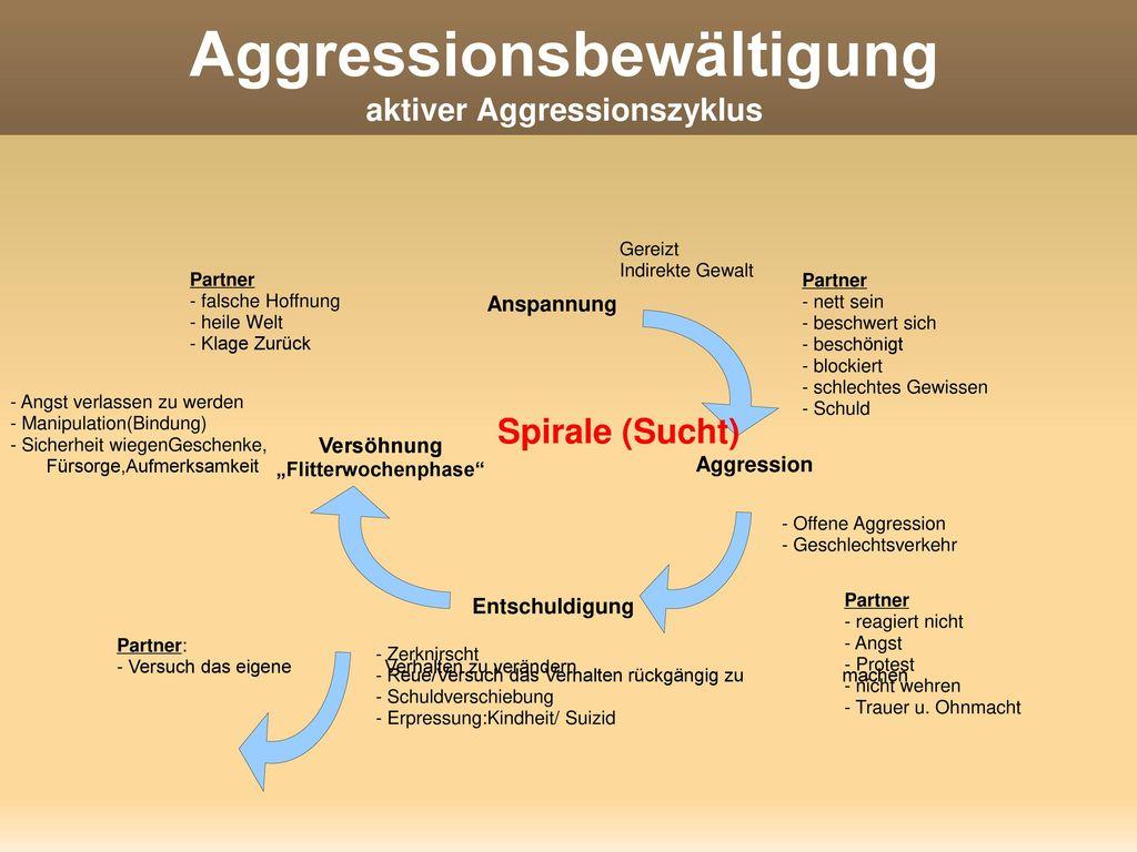 Aggressionsbewältigung aktiver Aggressionszyklus