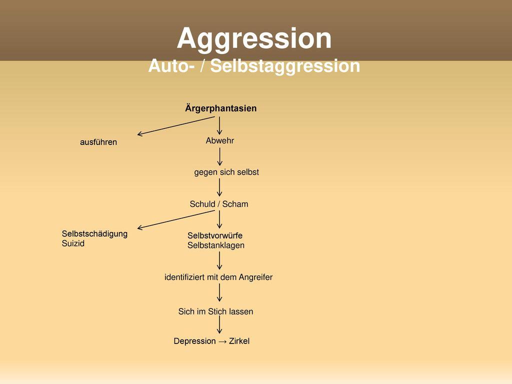 Aggression Auto- / Selbstaggression
