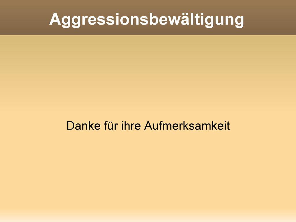 Aggressionsbewältigung
