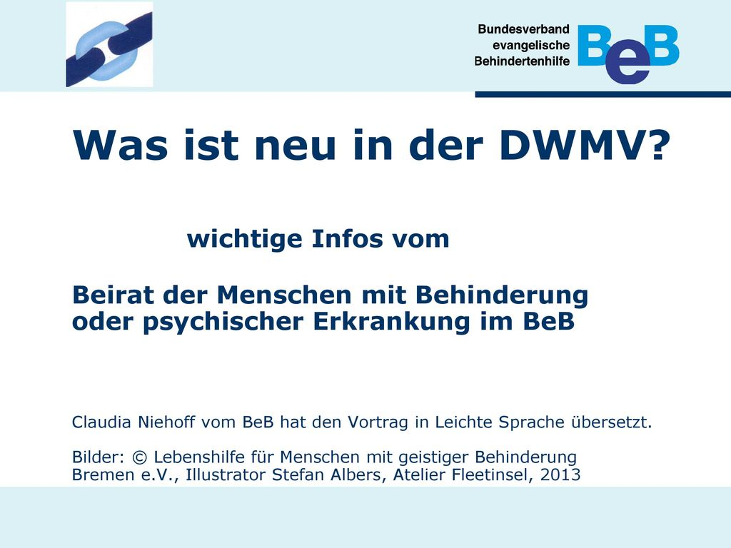 Was ist neu in der DWMV.