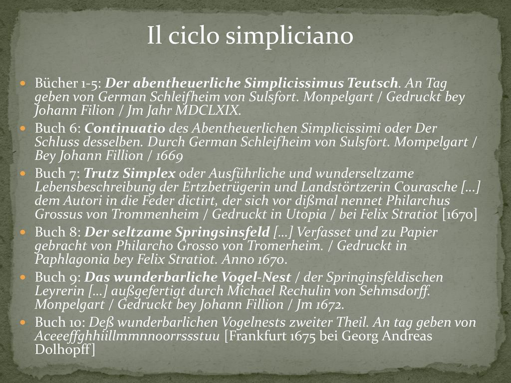Il ciclo simpliciano