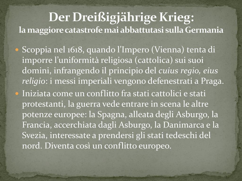 Der Dreißigjährige Krieg: la maggiore catastrofe mai abbattutasi sulla Germania