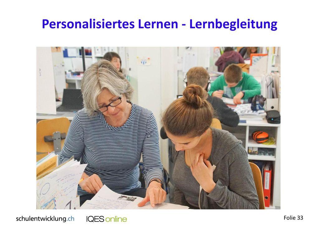 Personalisiertes Lernen - Lernbegleitung