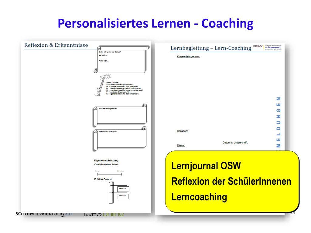 Personalisiertes Lernen - Coaching
