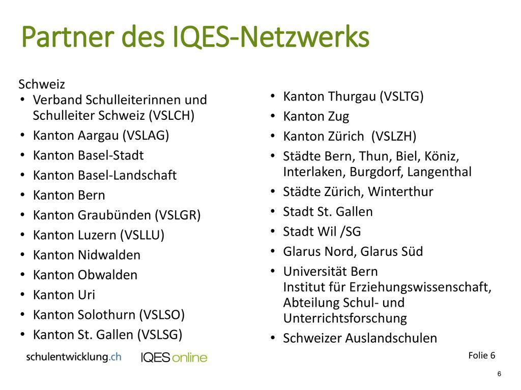 Partner des IQES-Netzwerks