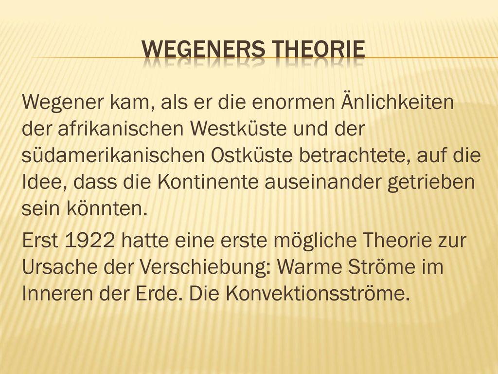 Wegeners TheoriE