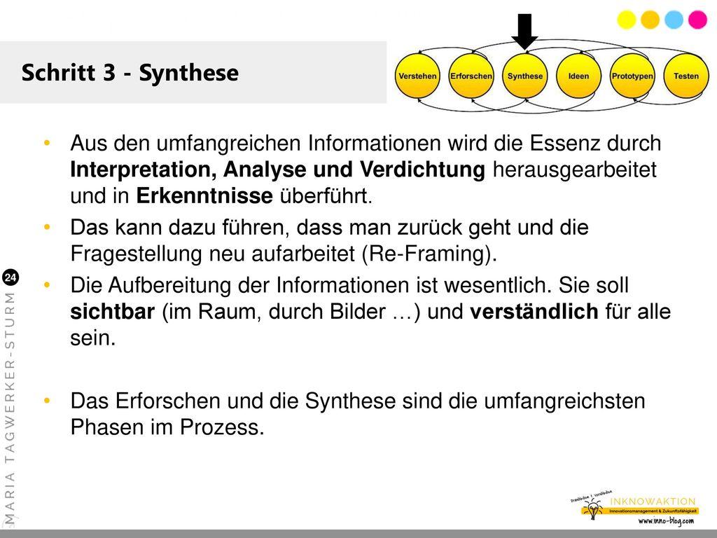 Schritt 3 - Synthese