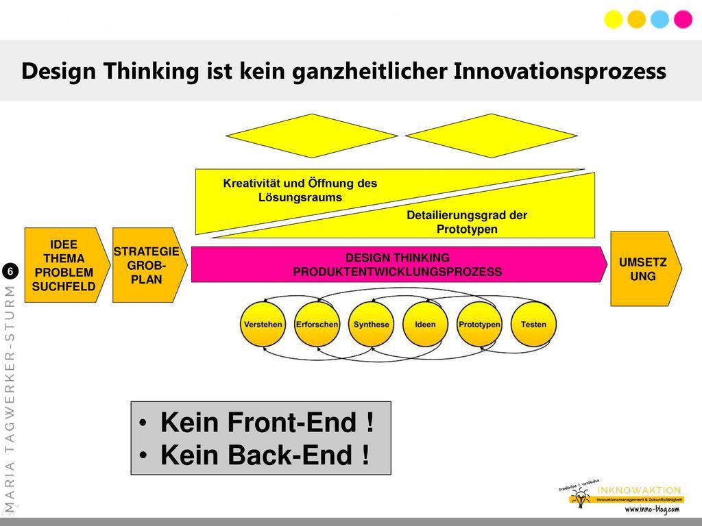 Design Thinking ist kein ganzheitlicher Innovationsprozess