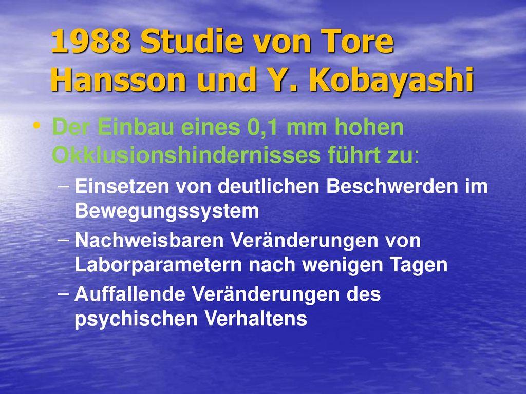 1988 Studie von Tore Hansson und Y. Kobayashi