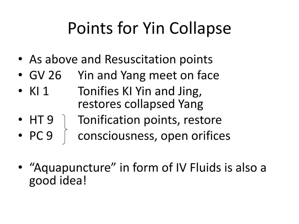 Points for Yin Collapse