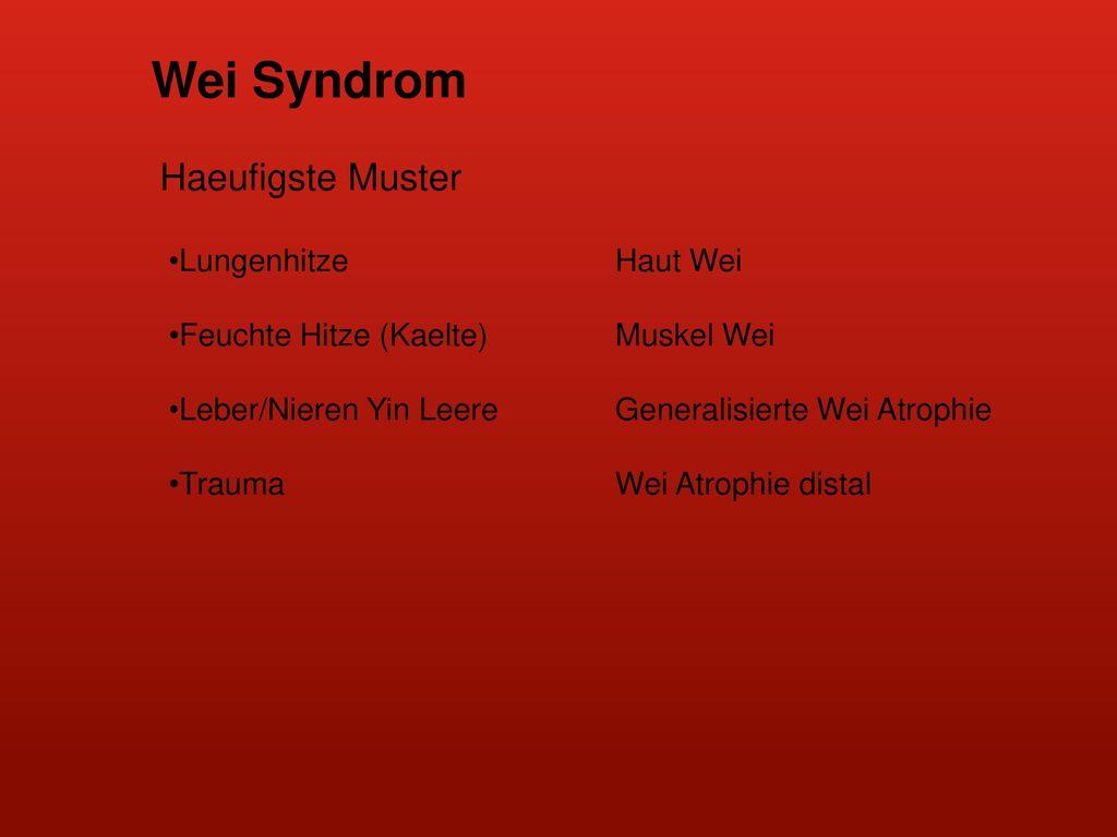 Wei Syndrom Haeufigste Muster Lungenhitze Haut Wei