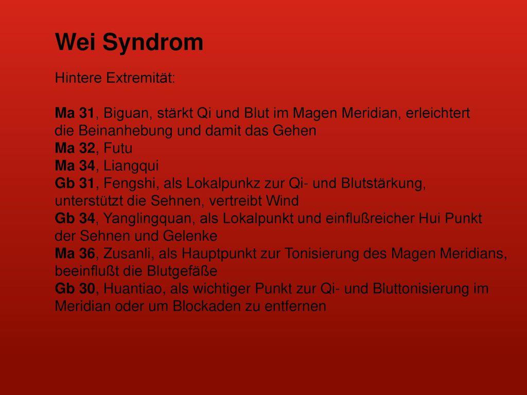 Wei Syndrom Hintere Extremität: