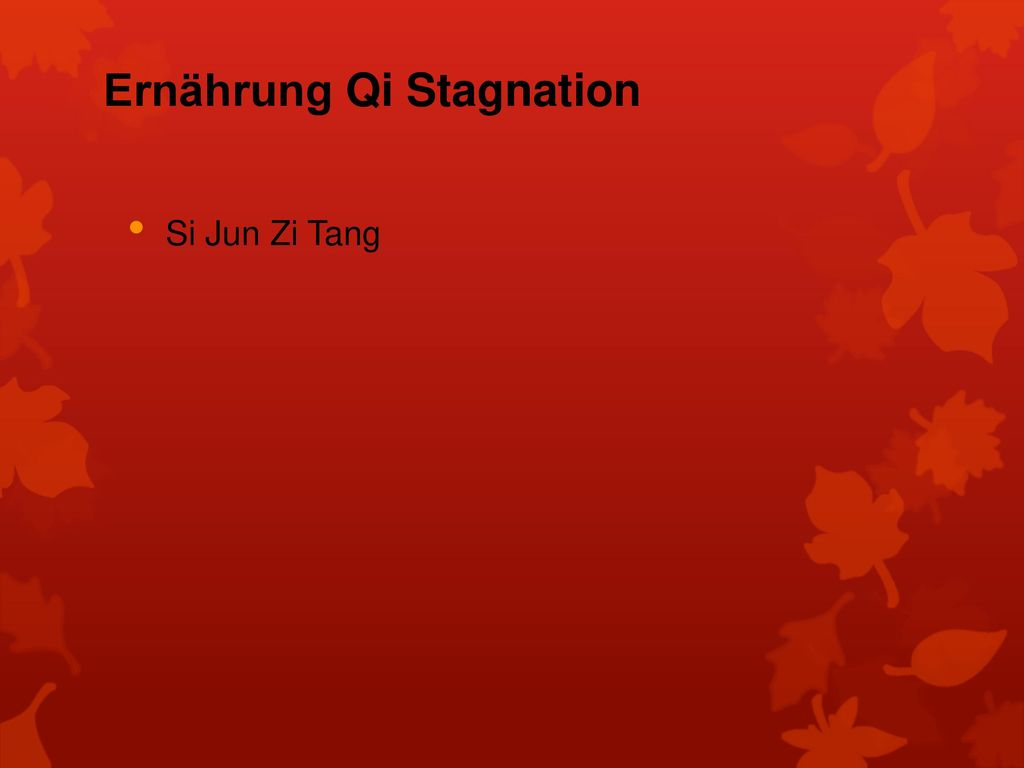Ernährung Qi Stagnation