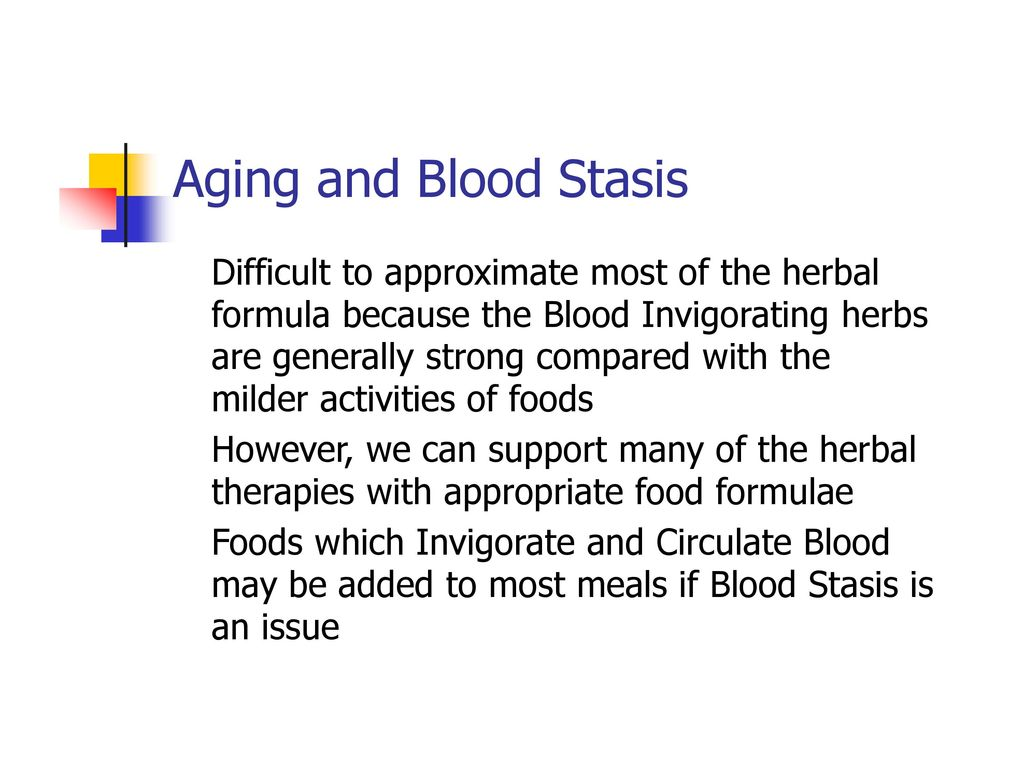 Aging and Blood Stasis Difficult to approximate most of the herbal