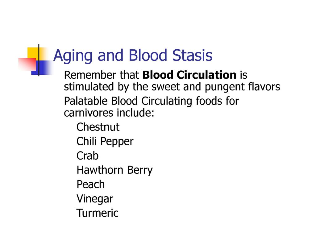 Aging and Blood Stasis Remember that Blood Circulation is