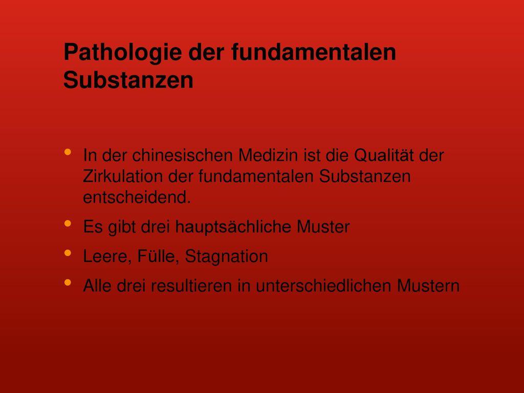Pathologie der fundamentalen Substanzen