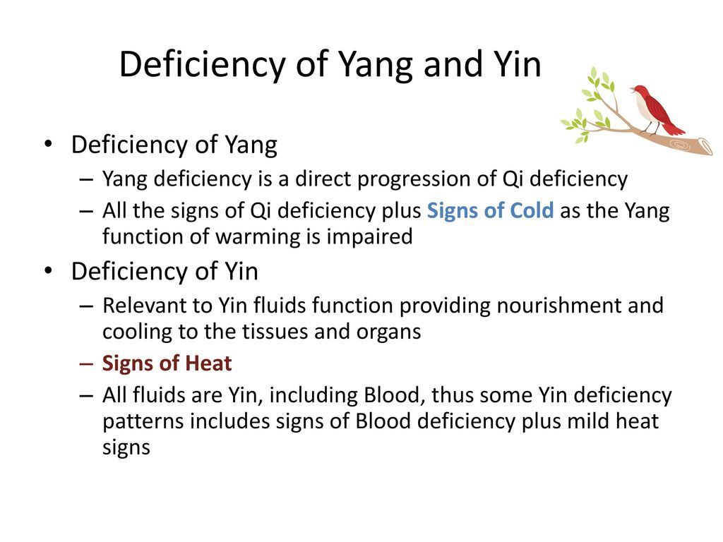 Deficiency of Yang and Yin