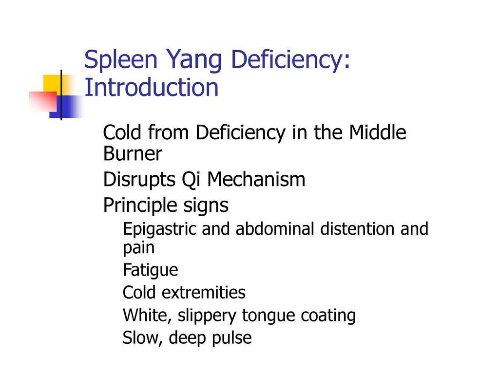Spleen Yang Deficiency: Introduction