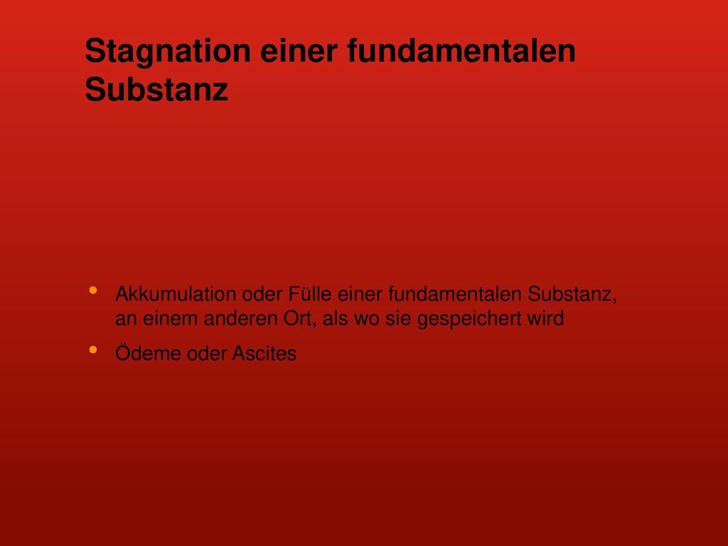 Stagnation einer fundamentalen Substanz