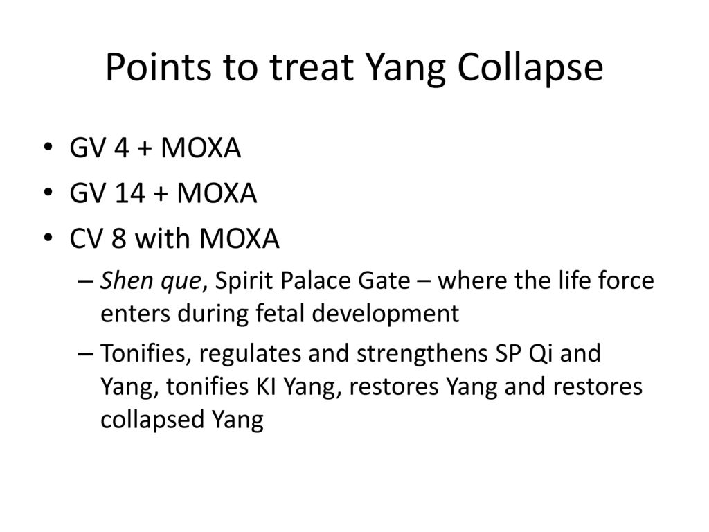 Points to treat Yang Collapse