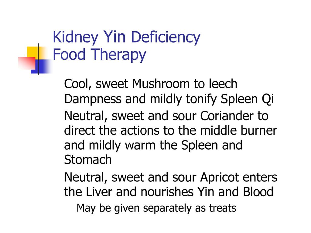 Kidney Yin Deficiency Food Therapy Cool, sweet Mushroom to leech