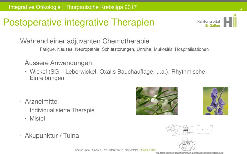 Postoperative integrative Therapien