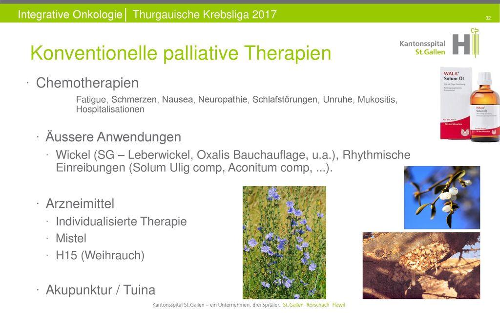 Konventionelle palliative Therapien