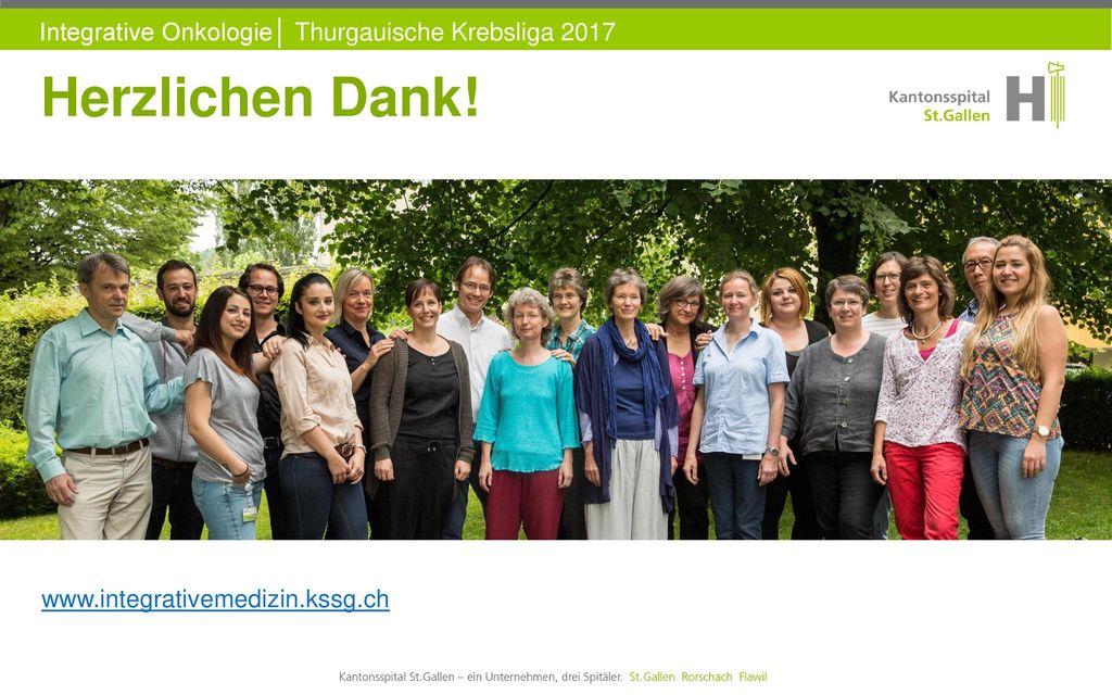 Herzlichen Dank! www.integrativemedizin.kssg.ch