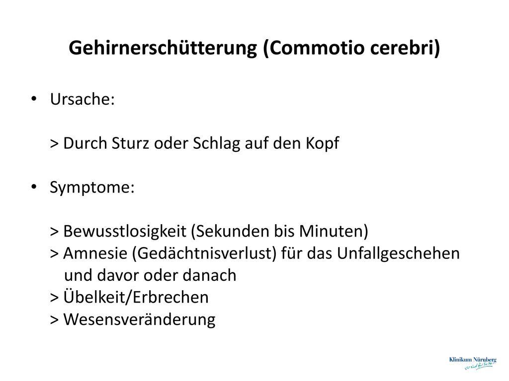 Gehirnerschütterung (Commotio cerebri)