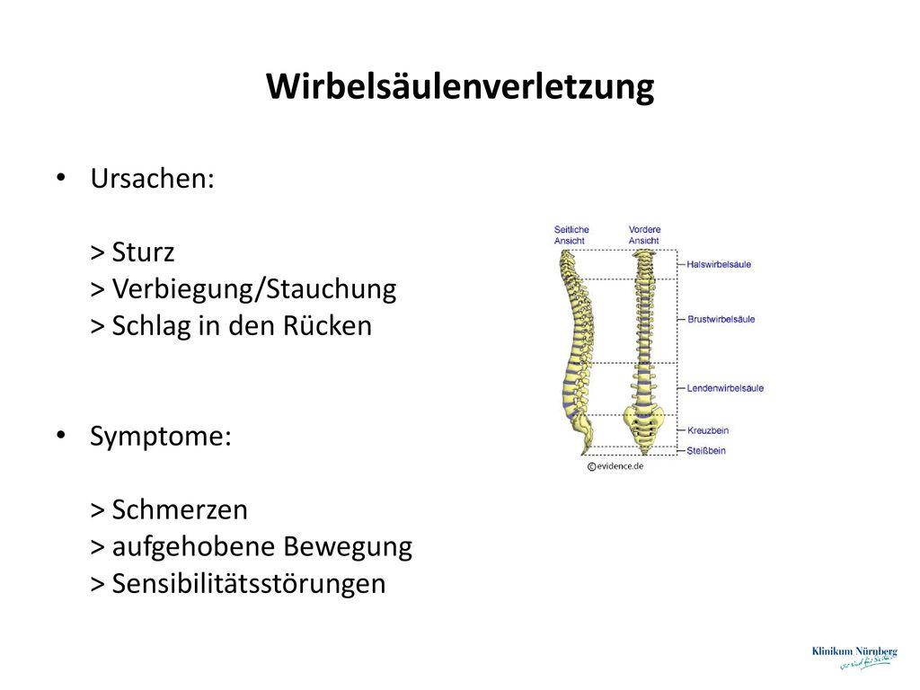 Wirbelsäulenverletzung