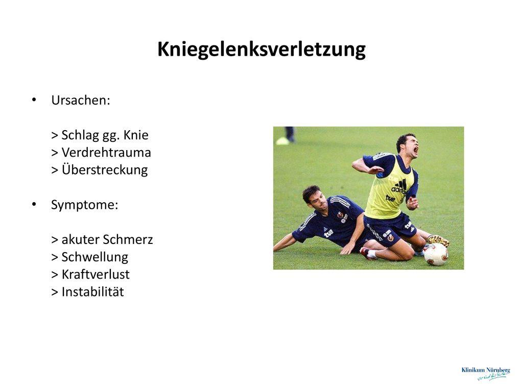 Kniegelenksverletzung