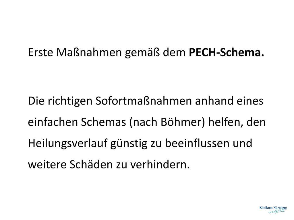 Erste Maßnahmen gemäß dem PECH-Schema