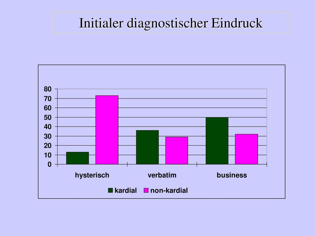 Initialer diagnostischer Eindruck