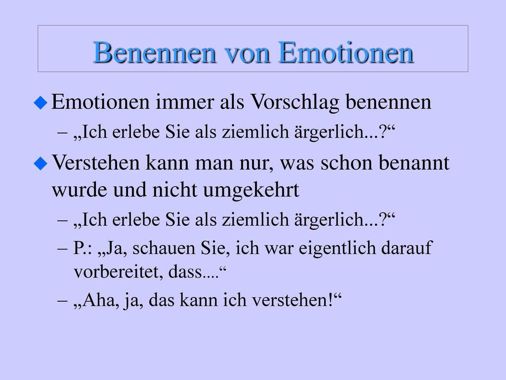 Benennen von Emotionen