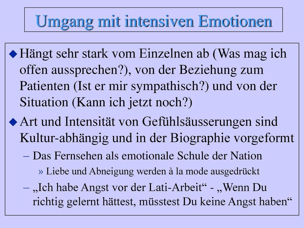 Umgang mit intensiven Emotionen