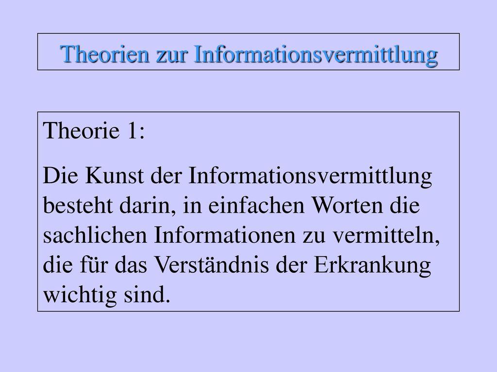 Theorien zur Informationsvermittlung