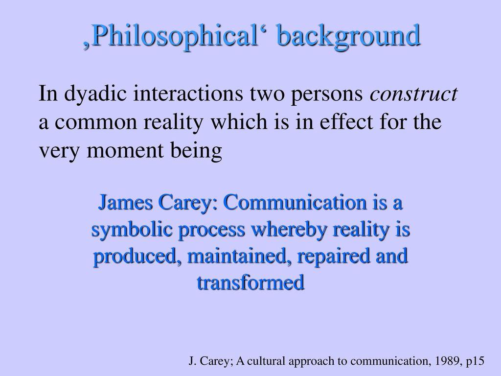 'Philosophical' background