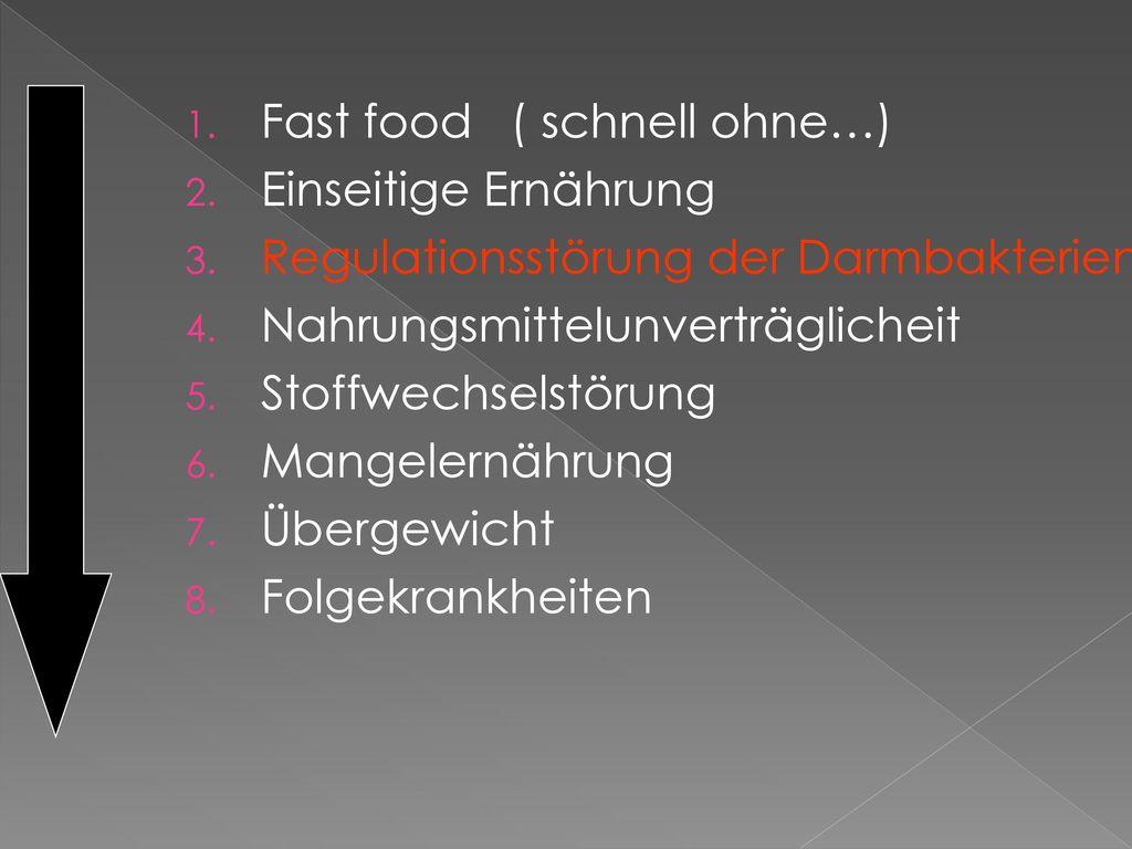 Fast food ( schnell ohne…)