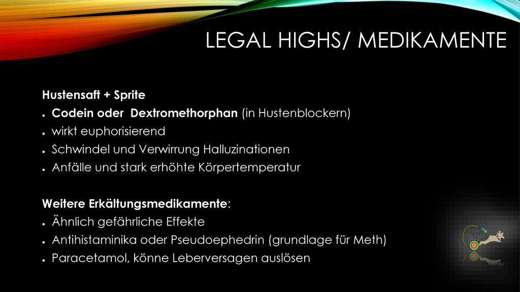 Legal Highs/ Medikamente
