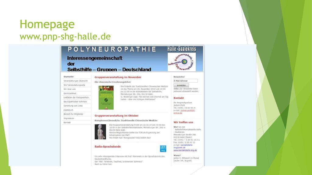 Homepage www.pnp-shg-halle.de