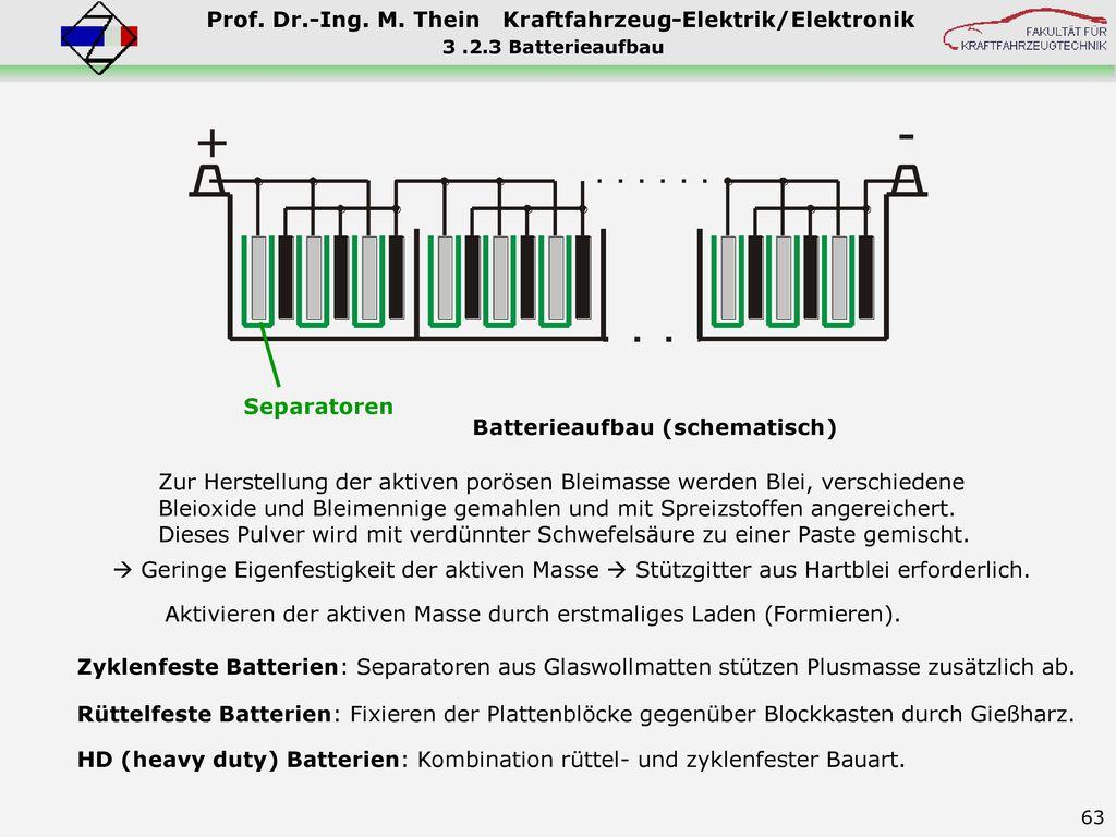 Batterieaufbau (schematisch)
