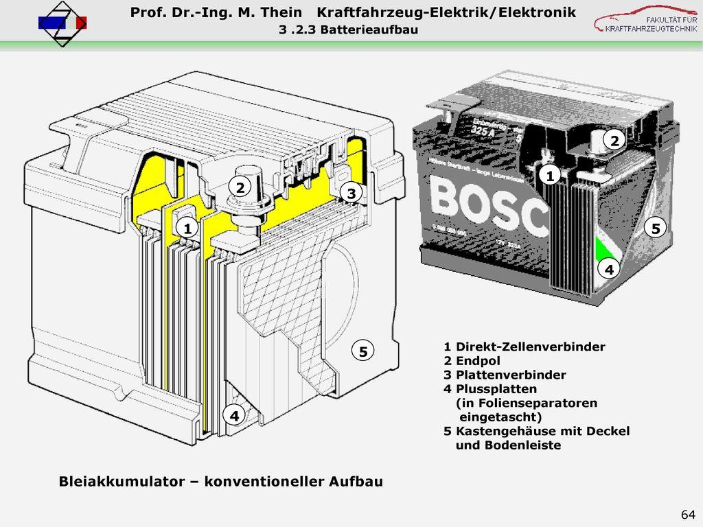 Bleiakkumulator – konventioneller Aufbau