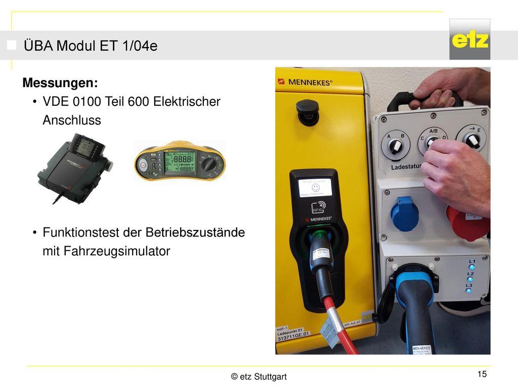 ÜBA Modul ET 1/04e Messungen: VDE 0100 Teil 600 Elektrischer Anschluss