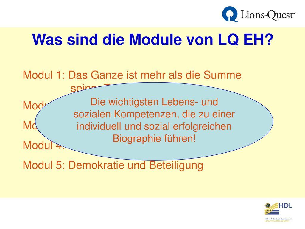 Was sind die Module von LQ EH
