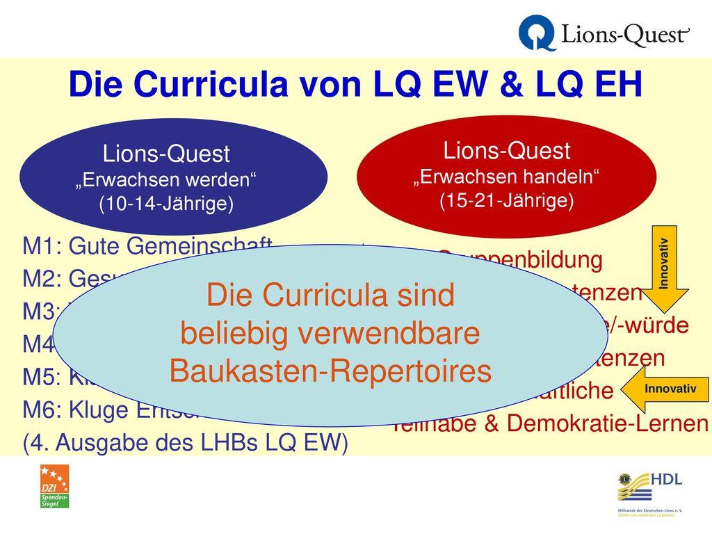 Die Curricula von LQ EW & LQ EH