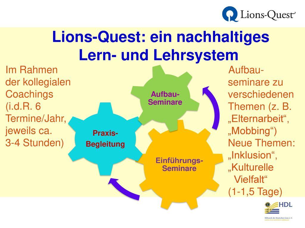 Lions-Quest: ein nachhaltiges